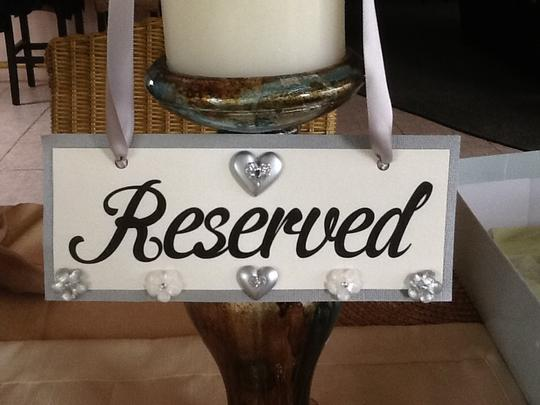 Ivory/Silver/Gray Reserved Signs Ceremony Decoration