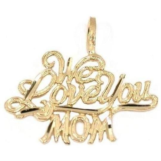 """Other """"We Love You Mom"""" 14K Gold Pendant - NWOT"""