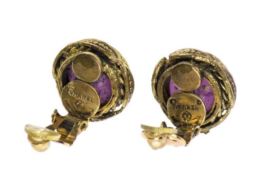 Chanel Chanel Vintage Glass Button Earrings