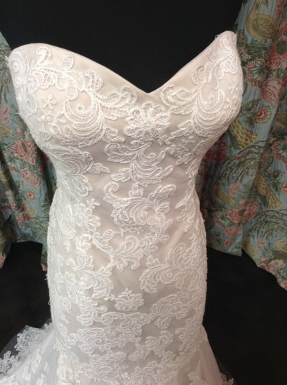 Wtoo Ivory Lace Over Champagne Flora Vintage Wedding Dress Size 12 (L)