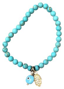 Jennifer Miller Jewelry turquoise and diamond bracelet