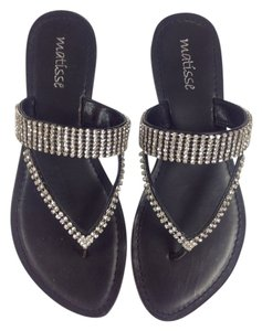 Matisse Black with rhinestone crystals Sandals