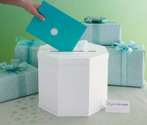 Martha Stewart White/Off White Envelope Box