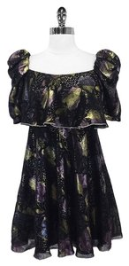 Jill Stuart short dress Metallic Floral Peasant on Tradesy