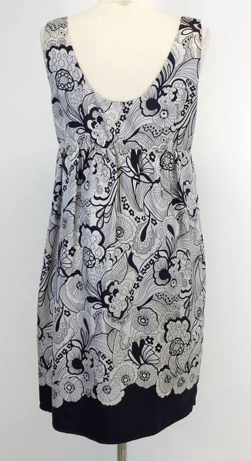 See by Chloé short dress Gray & Black Print Silk Sleeveless on Tradesy