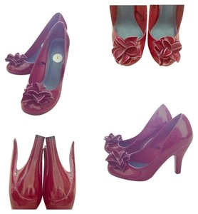 Madden Girl Flower Heels Power Maroon Pumps