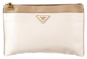 Prada White Clutch