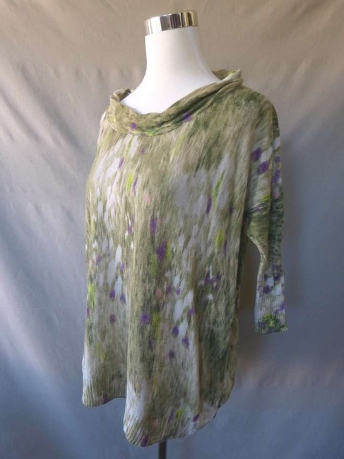 Other Anthropologie 3/4 Sleeve Oversized Linen Blend Sweater