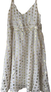 H&M A-line V-neck Metallic Dress