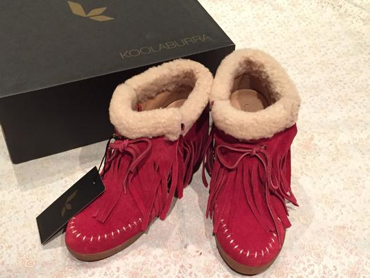 Koolaburra Suede Leather red Boots