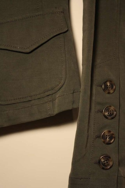United Colors of Benetton Stretchy Stretch Cotton Lightweight Button Detail Tortoise Shell Military Jacket