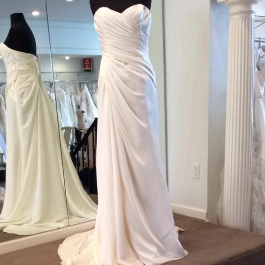 Enzoani Ivory Satin Wedding Dress Size 6 (S)