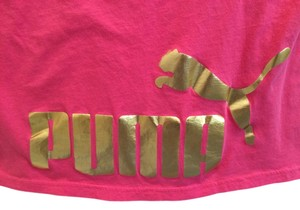 Puma Gold Gym Shirt T Shirt Pink