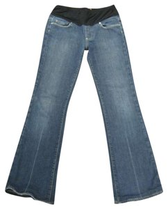 Paige Flare Leg Jeans-Medium Wash