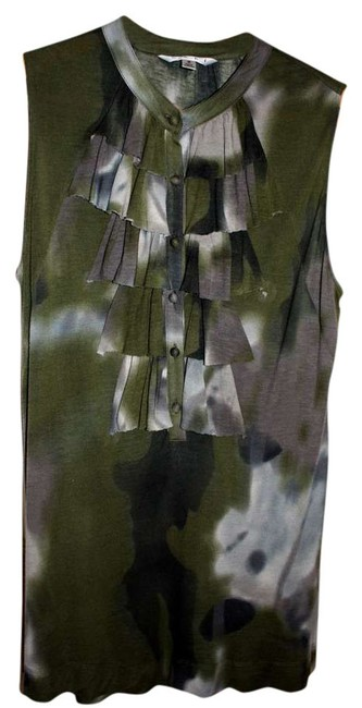 Item - Loden Green Camouflage Haute Camo Tunic Size 4 (S)