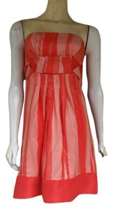 Gianni Bini Silk Strapless Dress