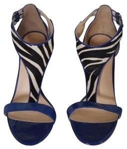 Guess By Marciano Patent Leather Cobalt Blue Sandals