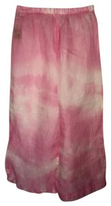 Other Cover Up Sexy Sheer Comfortable Summer Poolside Resort Wide Leg Pants pink tye dye