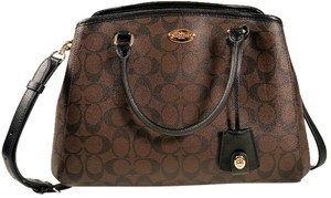 Coach Satchel in Black Brown