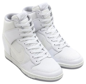 Nike Wedge Heel Sneaker Dunk White Wedges