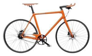 Hermès Hermes Orange Carbon Taurillon Leather Le Flaneur d'Hermes Unisex Bicycle