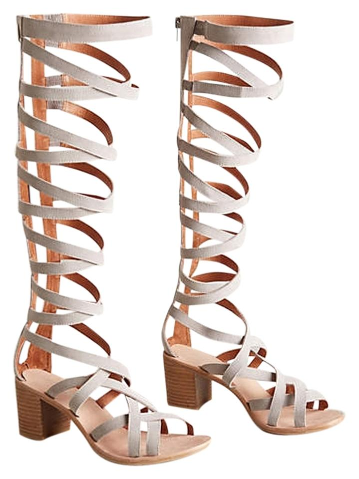 cc8a6bf9d0ef Jeffrey Campbell Enyo Gladiator In Grey Suede Sandals Size US 9 ...