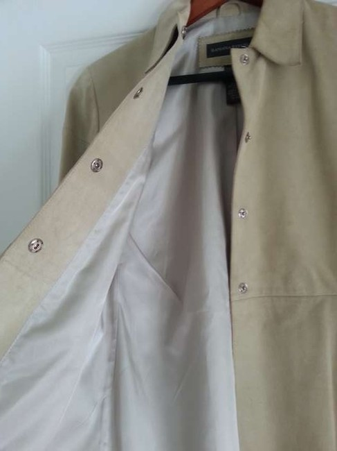 Banana Republic Suede Khaki Leather Jacket