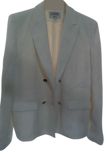 Kasper ASL Petite Formal Classic Fall Casual white Jacket