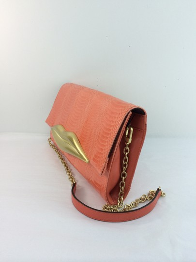 Diane von Furstenberg Summer Spring Evening Wedding Coral Clutch