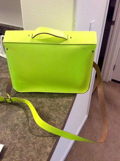 The Cambridge Satchel Company Fluoro Satchel in neon yellow