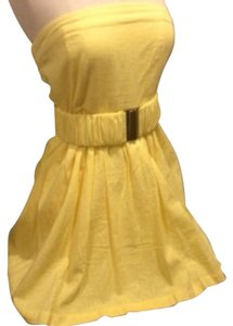 Ami Sanzuri short dress Yellow on Tradesy