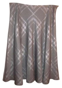 Jones New York Skirt Dark grey and silver