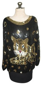 Tiger Sequins Vintage Tunic Dress