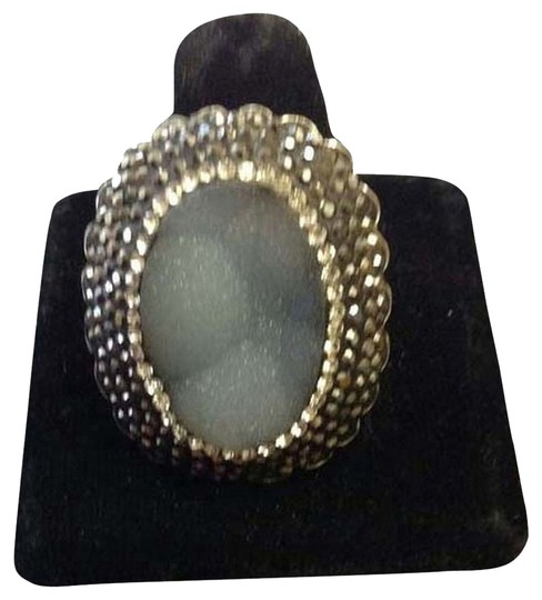 Other Sterling silver druzy adjustable ring