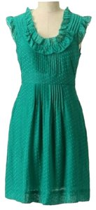 Anthropologie short dress Green Feminine Ruffled on Tradesy