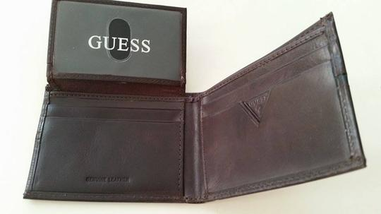 Guess Guess Genuine Leather wallet for man Double Billfold.