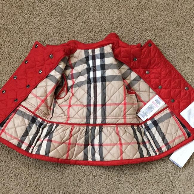 Burberry Coral Red Toddler Girls 2 3y Mini Portree Quilted Jacket