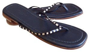 Eddie Bauer Navy blue, Cream Sandals
