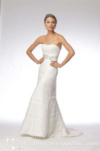 Wtoo Ivory Lace and Tulle 16478 Destination Wedding Dress Size 10 (M)