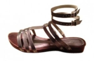 Lands' End Pewter Sandals