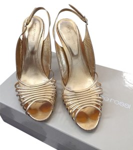 Sergio Rossi Gold Sandals