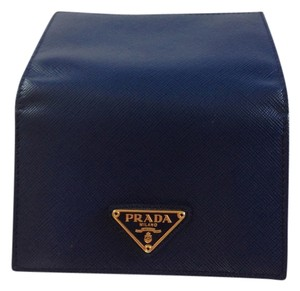 Prada Prada Small Leather Wallet Royal CornFlower Blue Saffiano