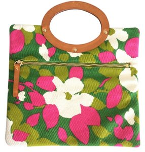 Kate Spade Pink//Green/White Floral Clutch