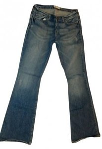 Buckle Flare Leg Jeans-Distressed