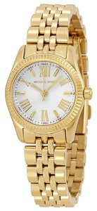 Michael Kors Michael Kors White Dial Gold-tone Stainless Steel Ladies Watch