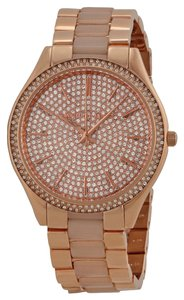 Michael Kors Micahel Kors Rose Gold Crystal Pave Dial Ladies Watch