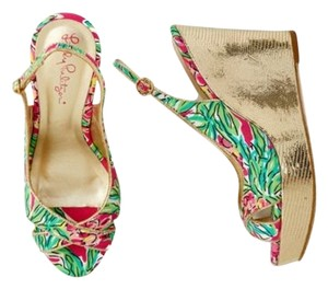 Lilly Pulitzer Pink Orchid Wedges
