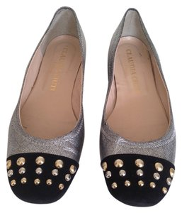 Claudia Ciuti Size 7.5 Black & Gunmetal flat Shoes Flats