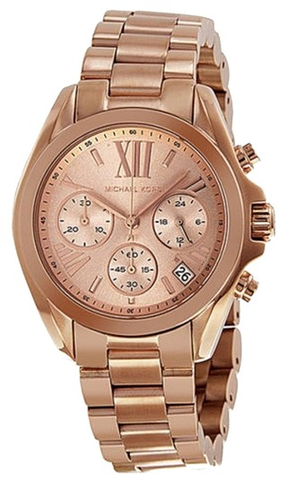 Michael Kors Michael Kors Chronograph Rose Dial Rose Gold-tone Ladies Watch