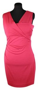Diane von Furstenberg short dress Red Currant Jersey V-neck Sleeveless on Tradesy
